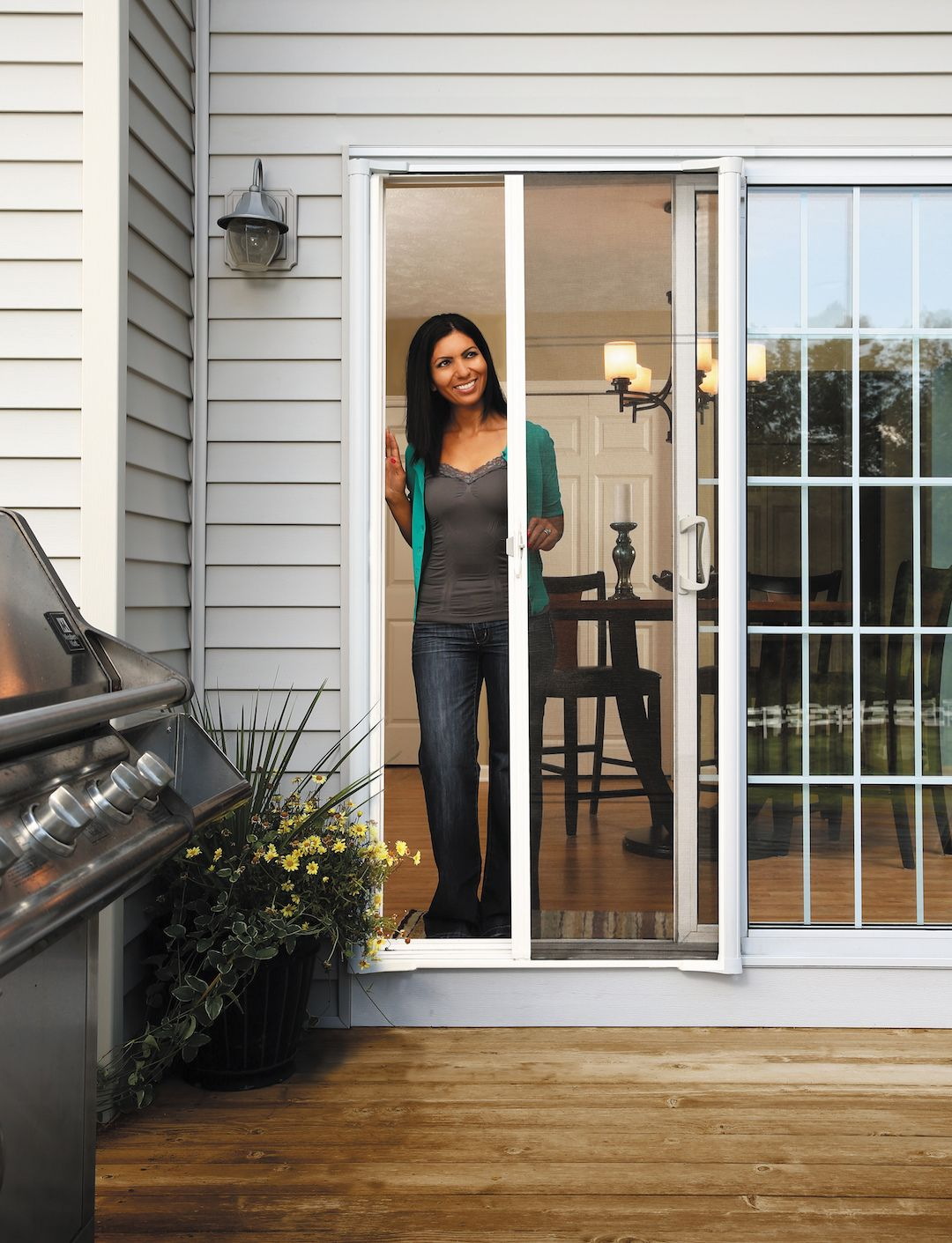 While A New Screen Door Might Seem Like An Unconventional Holiday Gift A True Home Improvement Retractable Screen Retractable Screen Door Sliding Patio Doors
