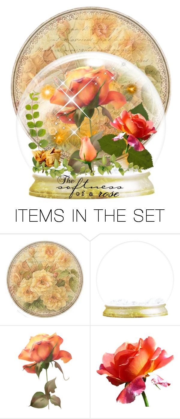 """Snow Globes with Roses contest"" by empathetic ❤ liked on Polyvore featuring art"