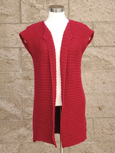 47bb230392c885 Passionista Vest Knit Pattern download designed by Lena Skvagerson for  Annie s. Order here  https