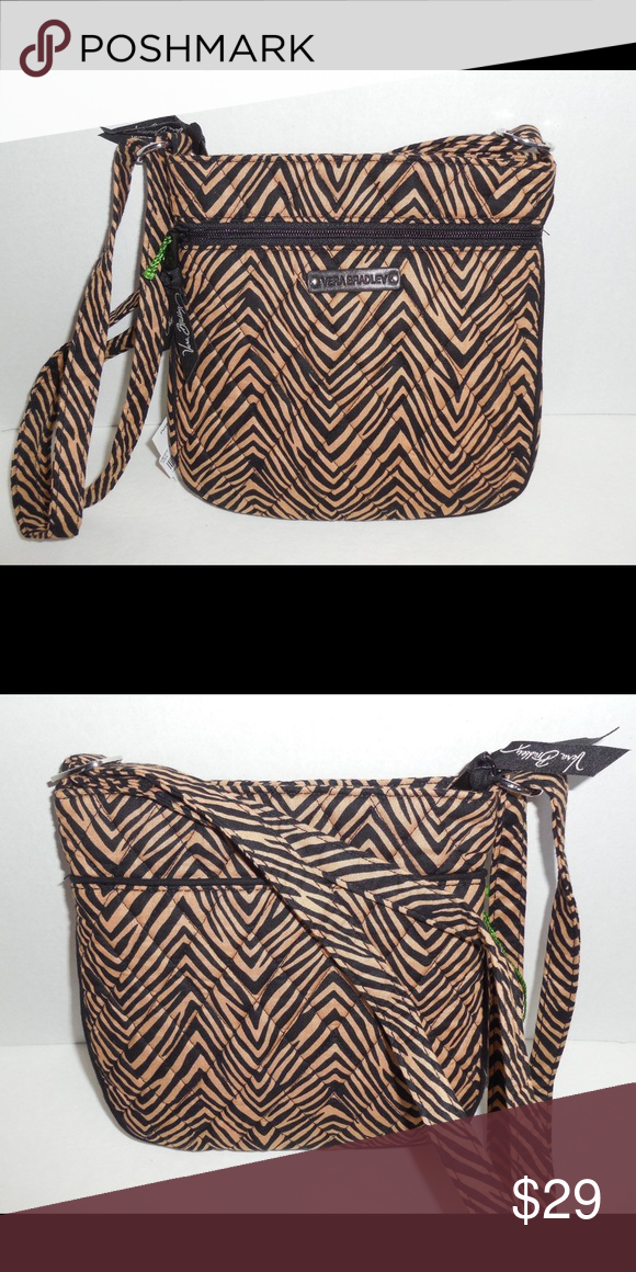 3b26551f070c Brand new Vera Bradley hipster purse Brand new with tags. Vera Bradley  petite double zip hipster purse. Zebra design. Style  14497-713. Quilted  fabric.