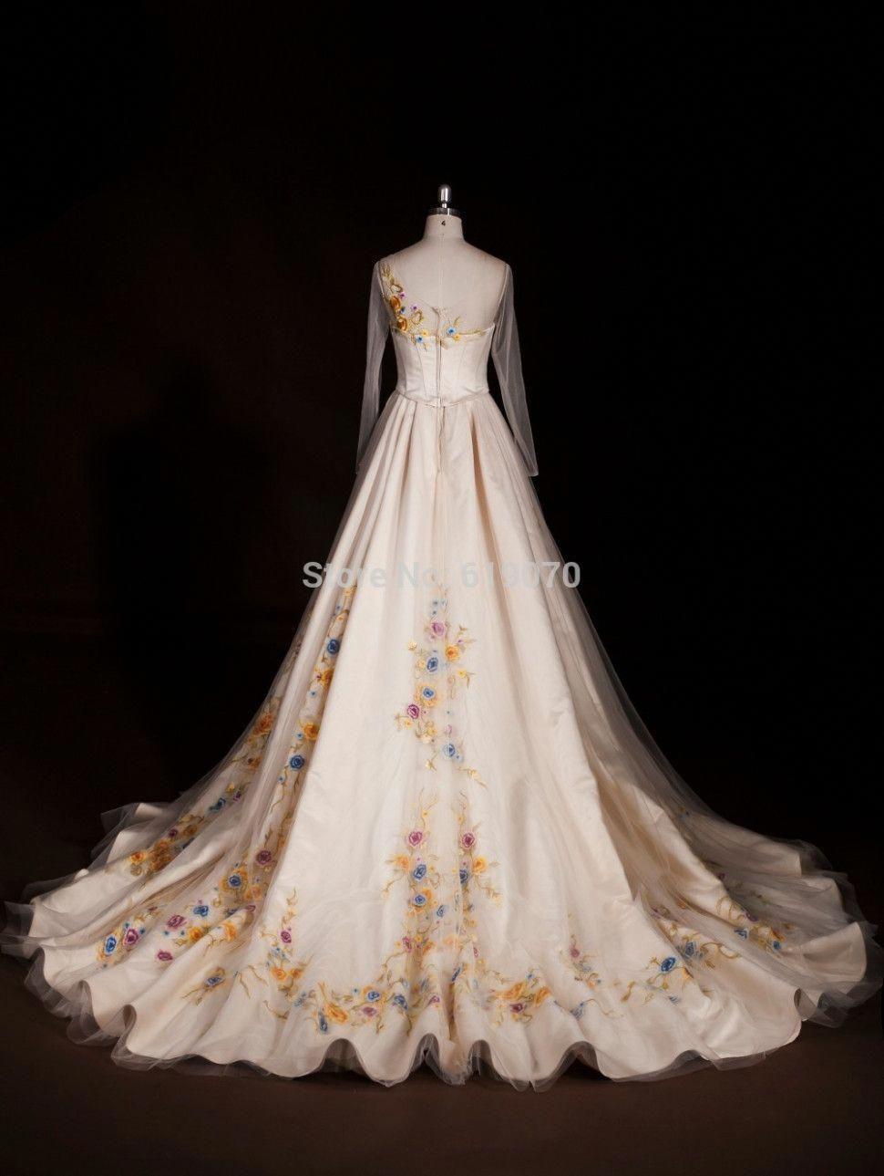 High End Cinderella Wedding Dress Fairy Tale Dream Bridal Gown 2015 Classic Movies Brides Wedding Dresses Cinderella Disney Wedding Dresses Cinderella Dresses