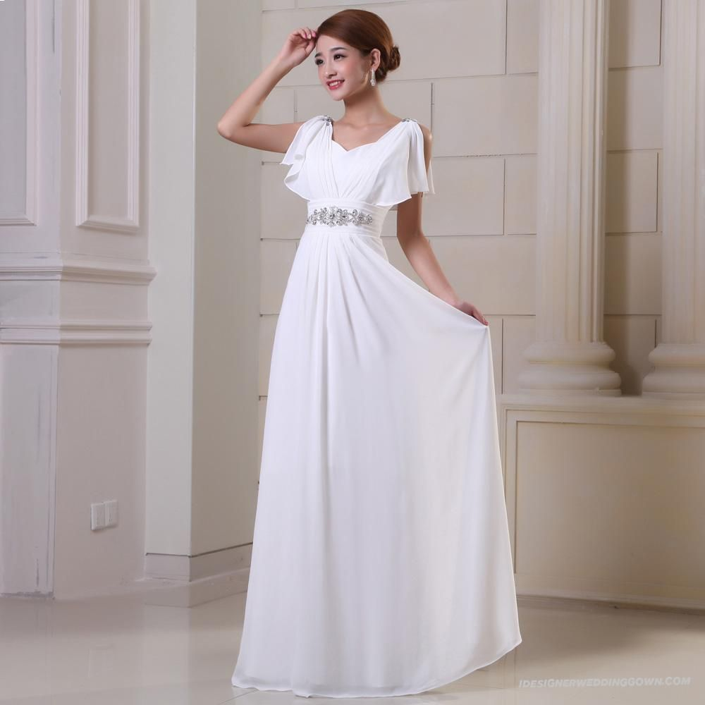 Wedding dresses with sleeves no train wedding for Wedding dresses no train