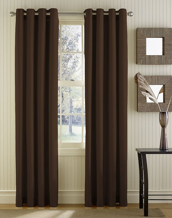 Modern Brown Curtain Panels