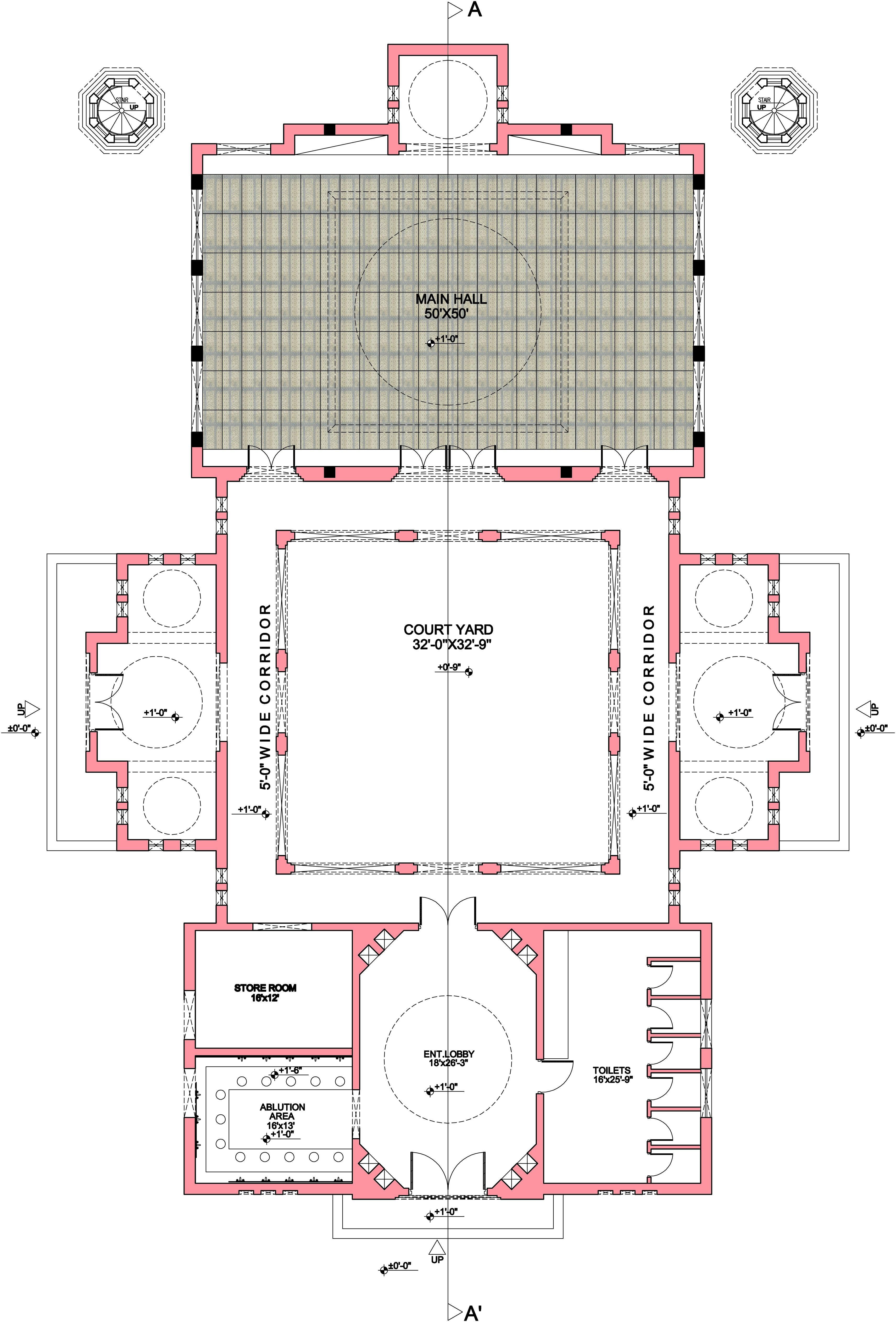 Mosque Floor Plan Pdf Mosque Architecture Mosque Design Layout Architecture