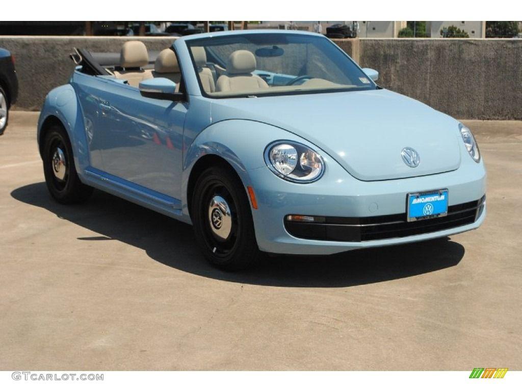 2017 Beetle 2 5l Convertible Denim Blue Beige Photo 1