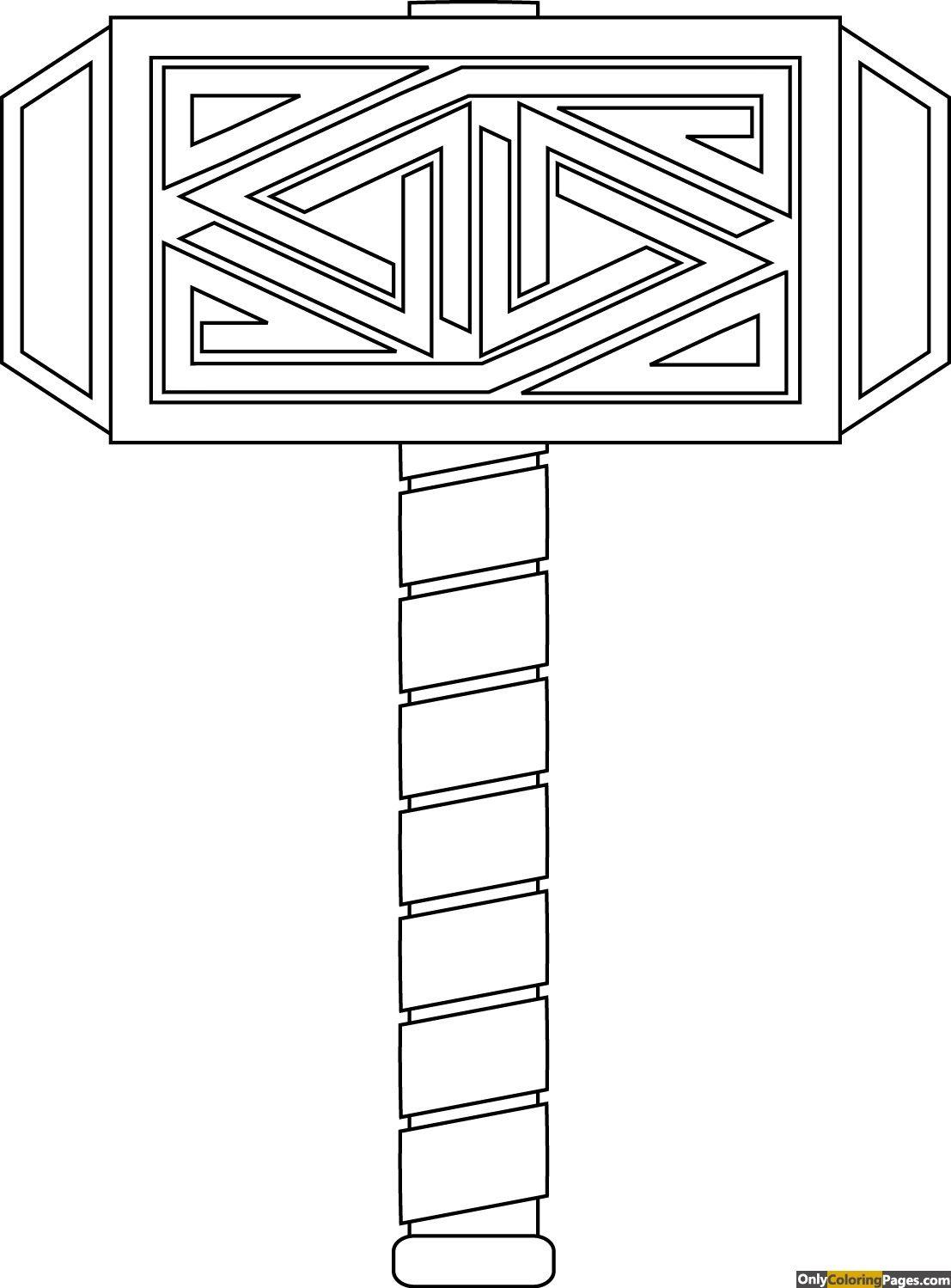 Thor Logo Coloring Pages Martelo De Thor Tatuagem Do Loki Thor