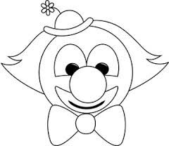 Image Result For Printable Clown Face Coloring Page Clown Images