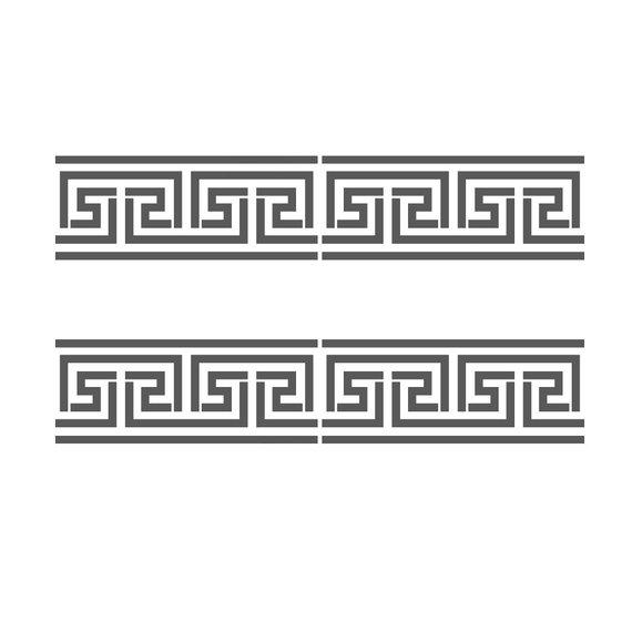 Greek Key Side Border Stencil 2 Reusable Template For Crafting Wall Diy Decor