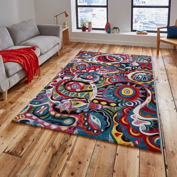 579df3080da Sunrise Multi-coloured Rugs Y583A - Free UK Delivery - The Rug Seller