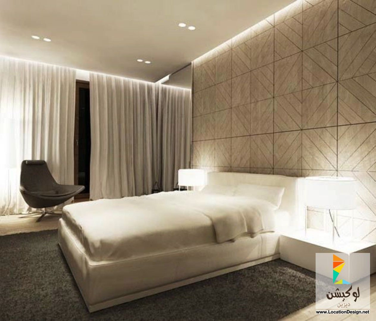 غرف نوم مودرن للعرسان 2015 لوكيشن ديزاين تصميمات ديكورات أفكار جديدة مصر Locationdesign Com Modern Bedroom Bedroom Interior Luxurious Bedrooms