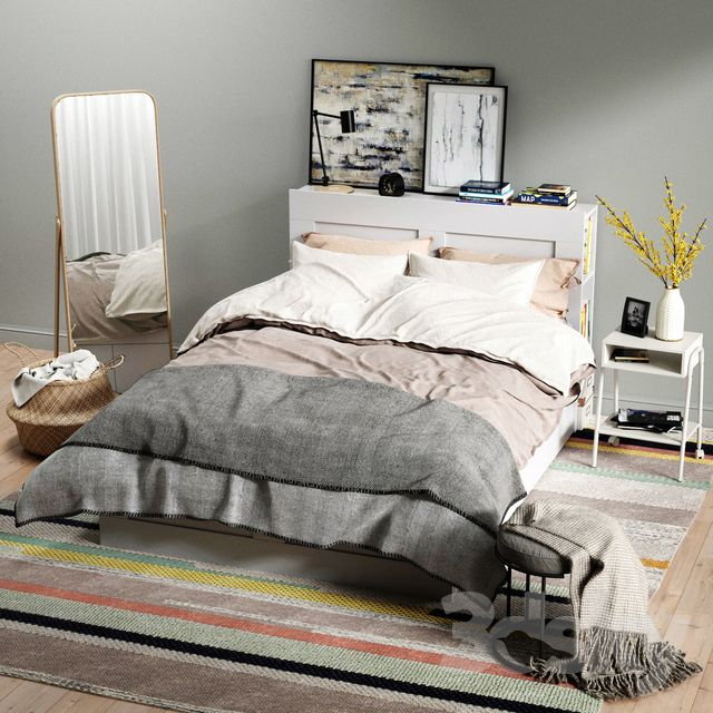 3d models: Bed – IKEA BRIMNES