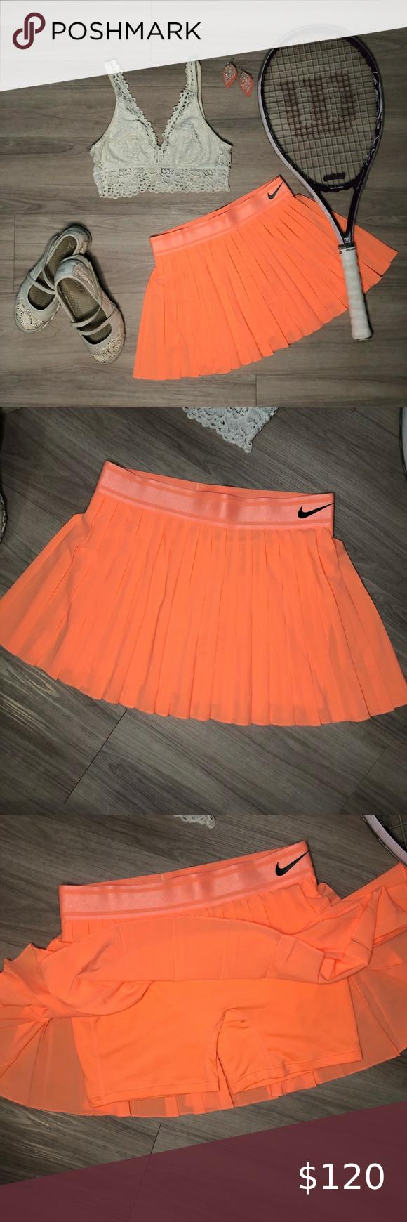 Nwt Nike Victory Pleated Tennis Skort Size Small Nike Victory Pleated Tennis Skirt W Shorts Beautiful Neon Coral Col In 2020 Pleated Tennis Skirt Womens Skirt Fashion
