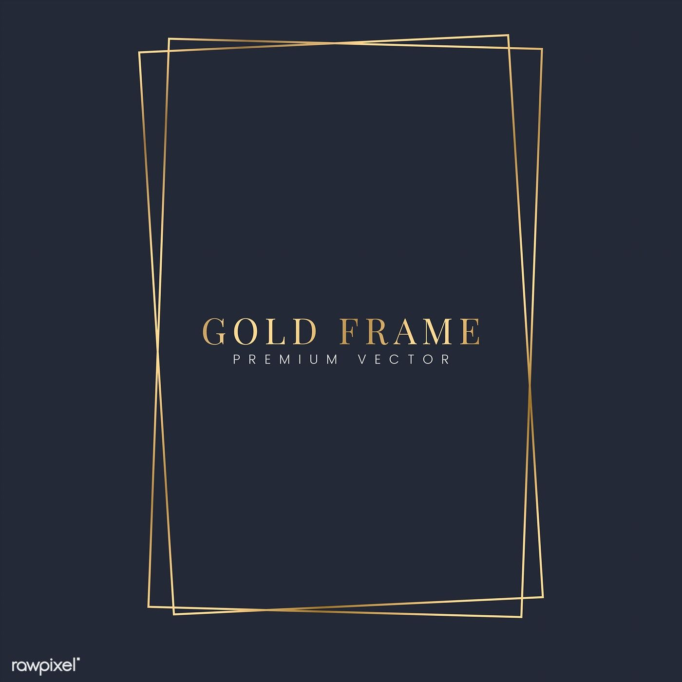 Download Premium Vector Of Golden Rectangle Frame Template
