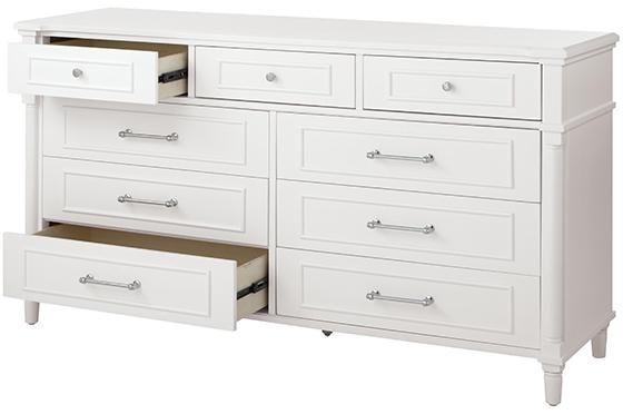 Home Decorators Collection Aberdeen 9 Drawer White Dresser 9807300410 The Home Depot Dresser White Dresser Home Decorators Collection