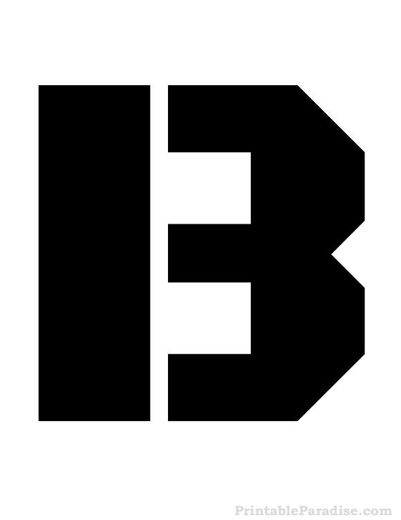 Printable Letter B Stencil Letter Stencils Pinterest