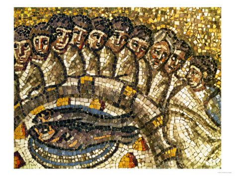 Mosaic of the Apostles and Fish Giclee Print at AllPosters.com