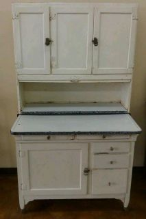 Antique Sellers Hoosier Cabinet | Antique Louden Type Pulley Wood ...