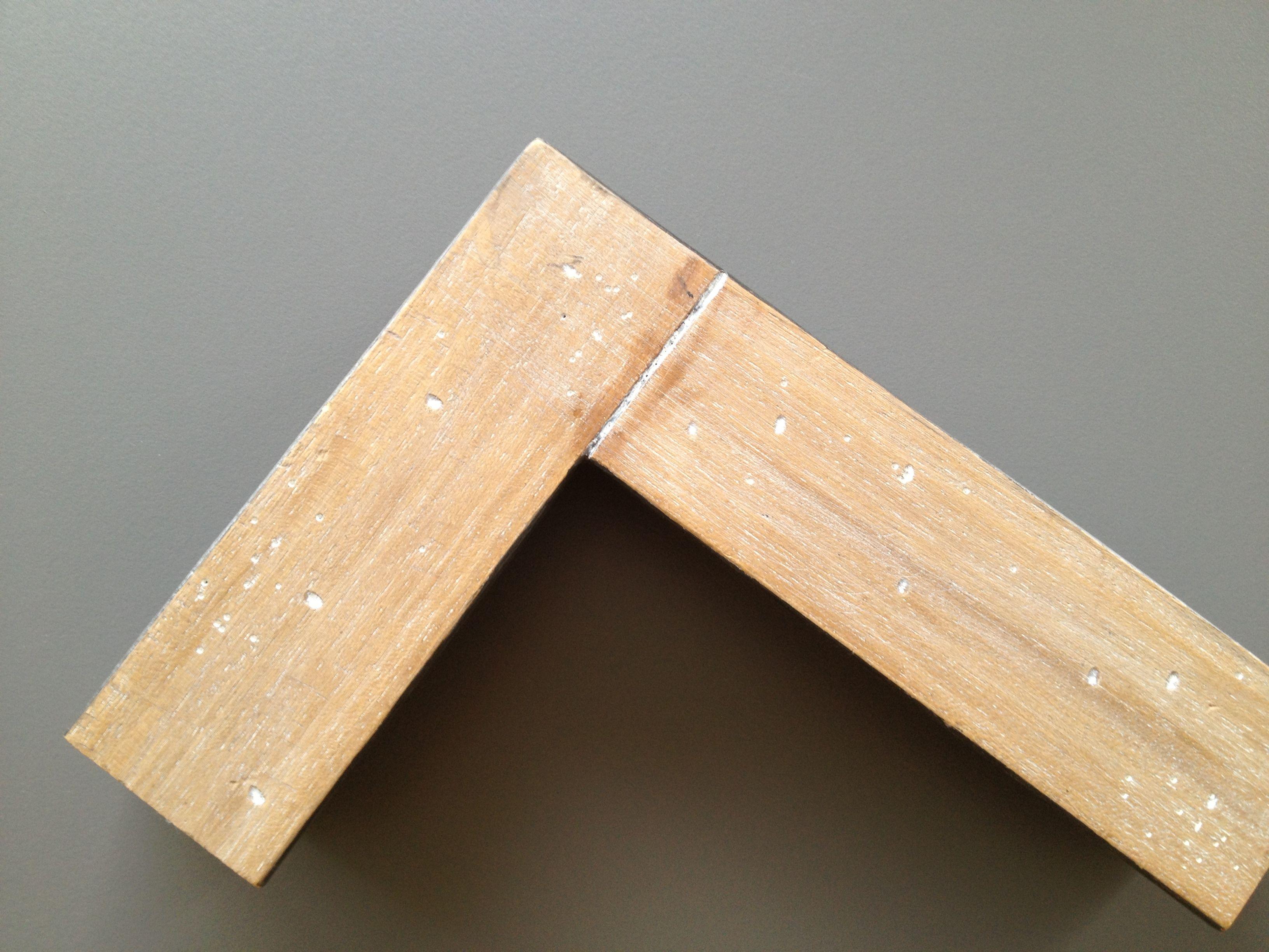 Marco,espejo rustico.Marco madera clarita envejecida y con corte ...