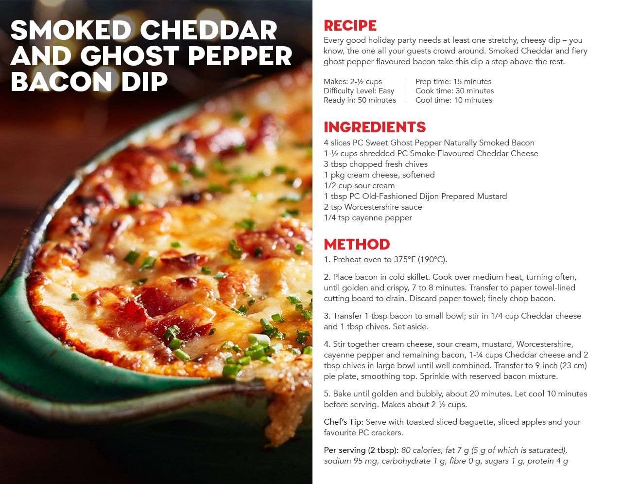 Smoked Cheddar And Ghost Pepper Bacon Dip Recipe Stuffed Peppers