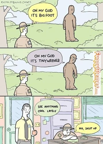 Funny memes Don't mess up with the Bigfoot...