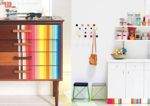 20 id es d co diy avec du masking tape diy id e d co diy deco et idee deco. Black Bedroom Furniture Sets. Home Design Ideas