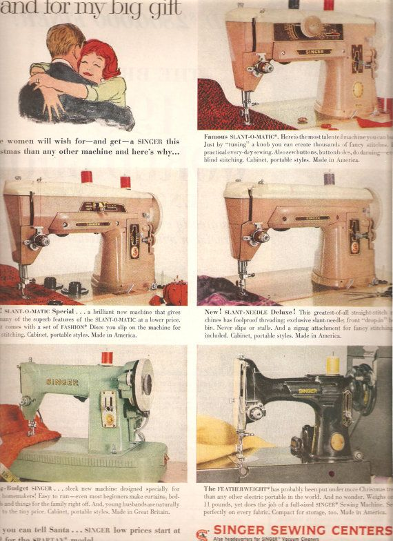 Singer Advertisement For A 40 40 40 40 And 40 I Used To Own Inspiration Who Makes Singer Sewing Machines Now