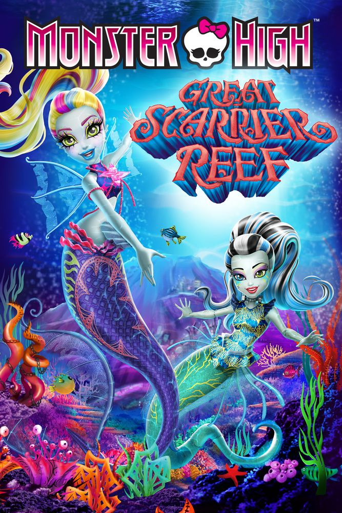 Monster High Great Scarrier Reef Movie Poster Larissa