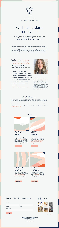 The Goldrunner Minimal Web Design Custom Website Design Custom Web Design