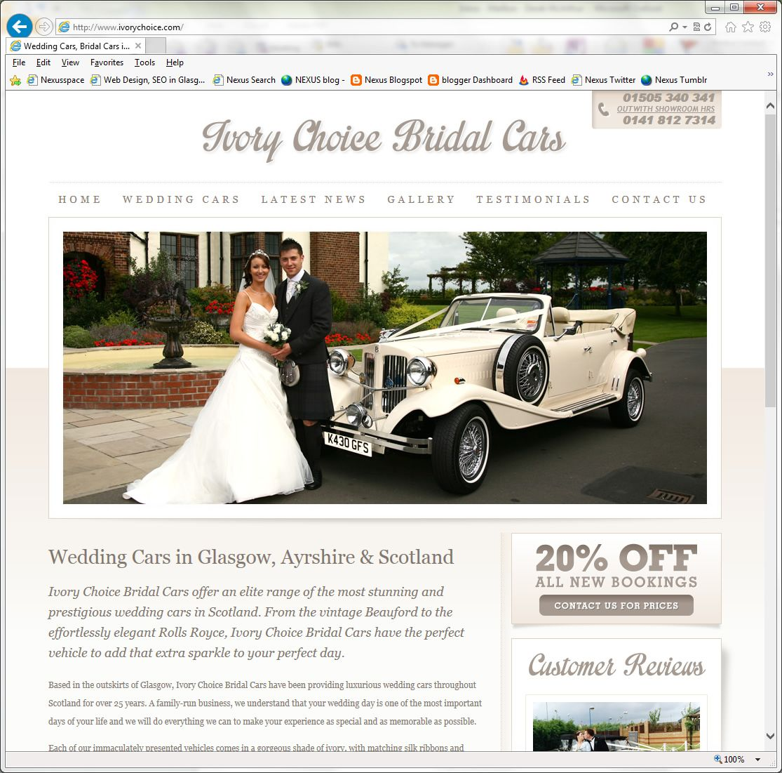 Ivory Choice Bridal Cars offer an elite range of the most stunning ...