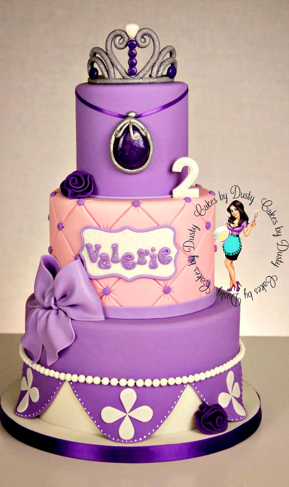 Excellent Valerie Is 2 Sofia The First Cake First Birthday Cakes Sofia Cake Personalised Birthday Cards Arneslily Jamesorg