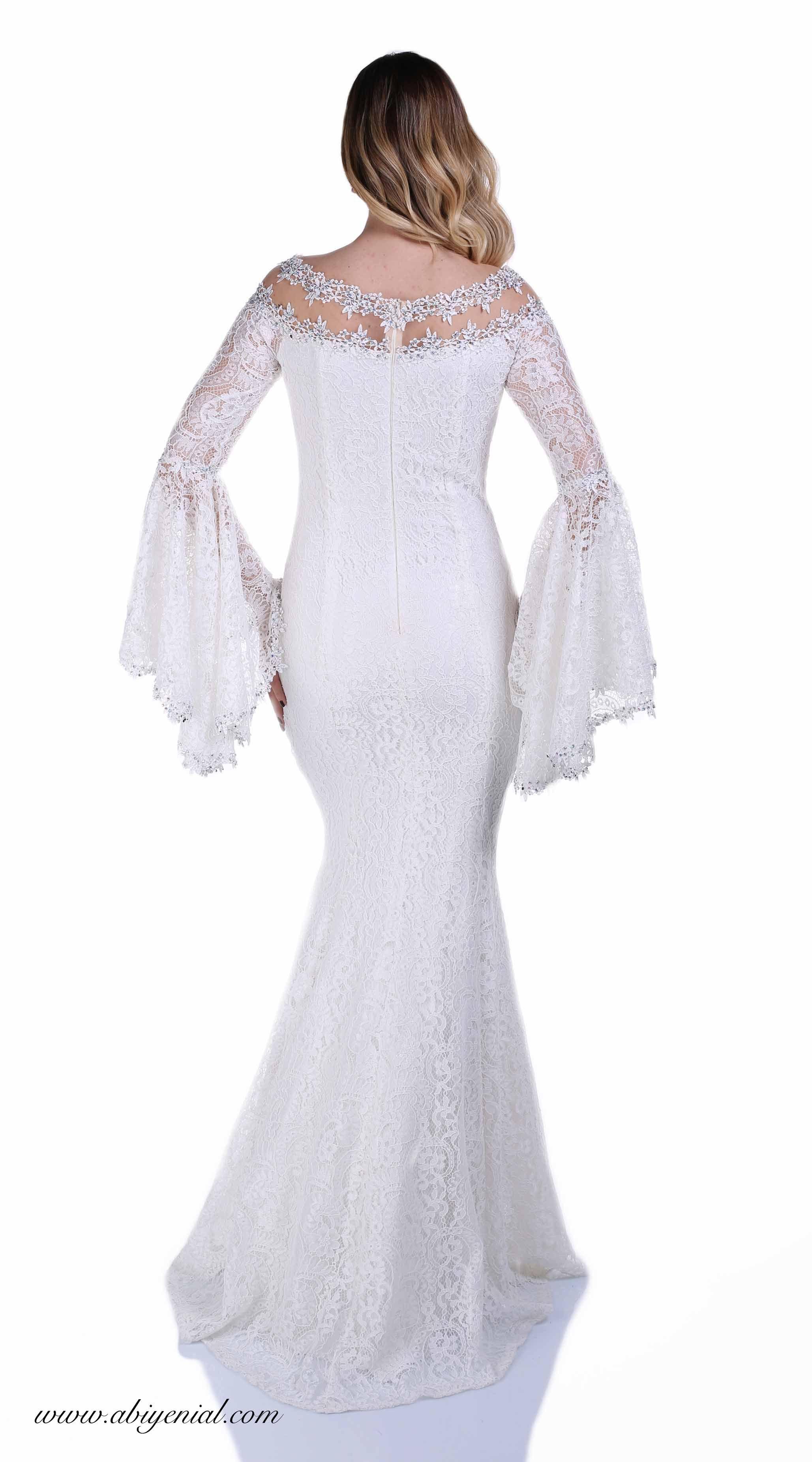 Dantel Balik Abiye Elbise Volan Kollu Nikah Abiyesi Nikah Beyaz Sade Uzun Balikabiye Dantelli 2018 2019 Romantik Ek Elbise Moda Stilleri The Dress