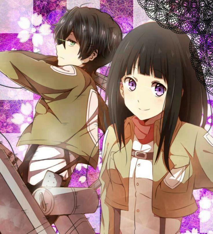 Chitanda and Oreki Hyouka Pinterest Titans, Attaque