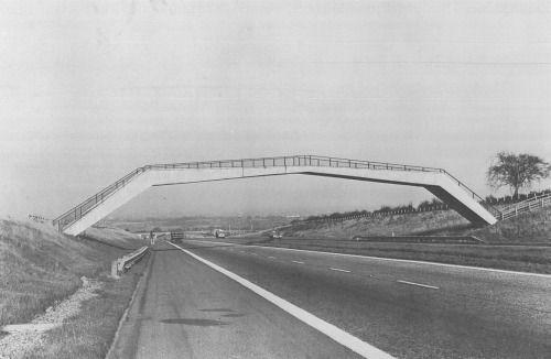 bluecote:  shaws bridge  1966 M74 motorway nr larkhall
