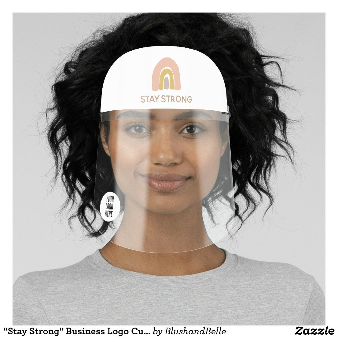 """""""Stay Strong"""" Business Logo Custom Personalized Face"""