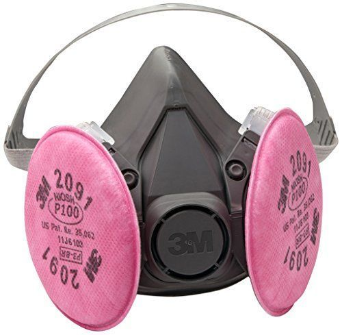 3m Reusable Respirator Gas Mask Large Half Facepiece Particulate