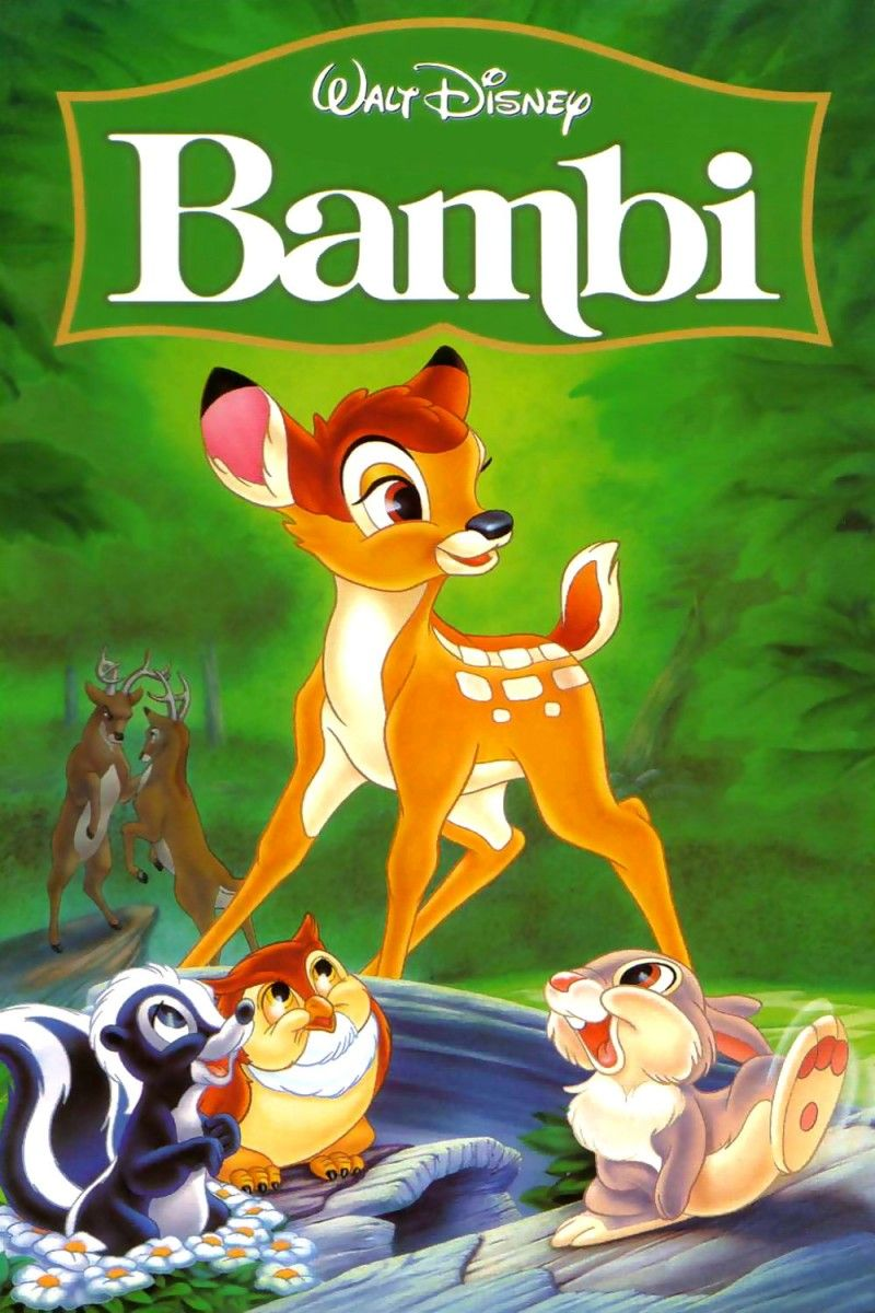 Bambi Walt Disney Tekenfilm 1942 Film Monster Knutselen Boeken