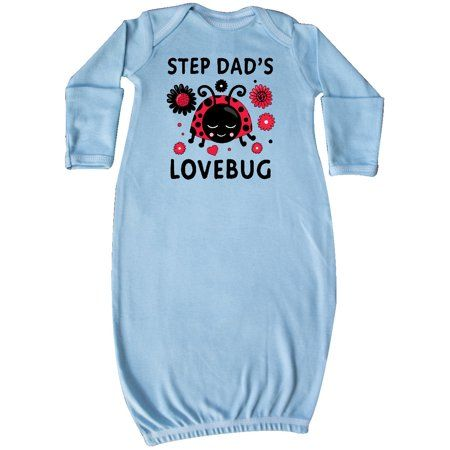 Adorable Valentine's Day Step Dad's Lovebug Newborn Layette with flowers. Makes a cute Valentines Day gift for your Step Daughter.