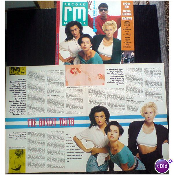 Bananarama. The Honest Truth. 2 page feature + cover. Record Mirror magazine