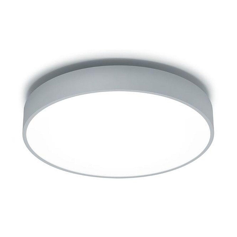 LED Aufbauleuchte rund 300 für Wand und Decke, direkt, IP20, Ø 30cm, 230V, 14.7W, 4000K 930lm, Silber / Acryl opal