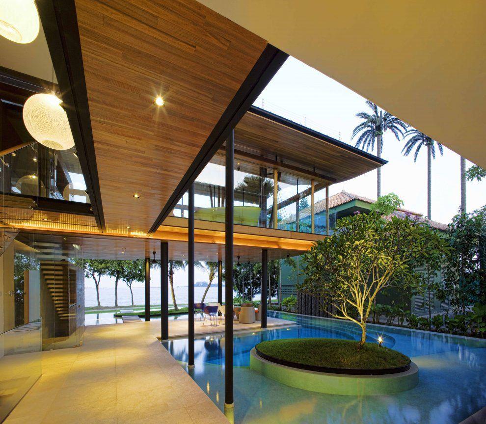 Environmentally friendly modern tropical house in singapore idesignarch interior design architecture interior