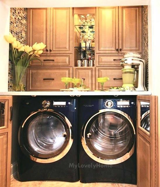 Washing Machine In Kitchen Design: How To Hide Washer And Dryer In Kitchen