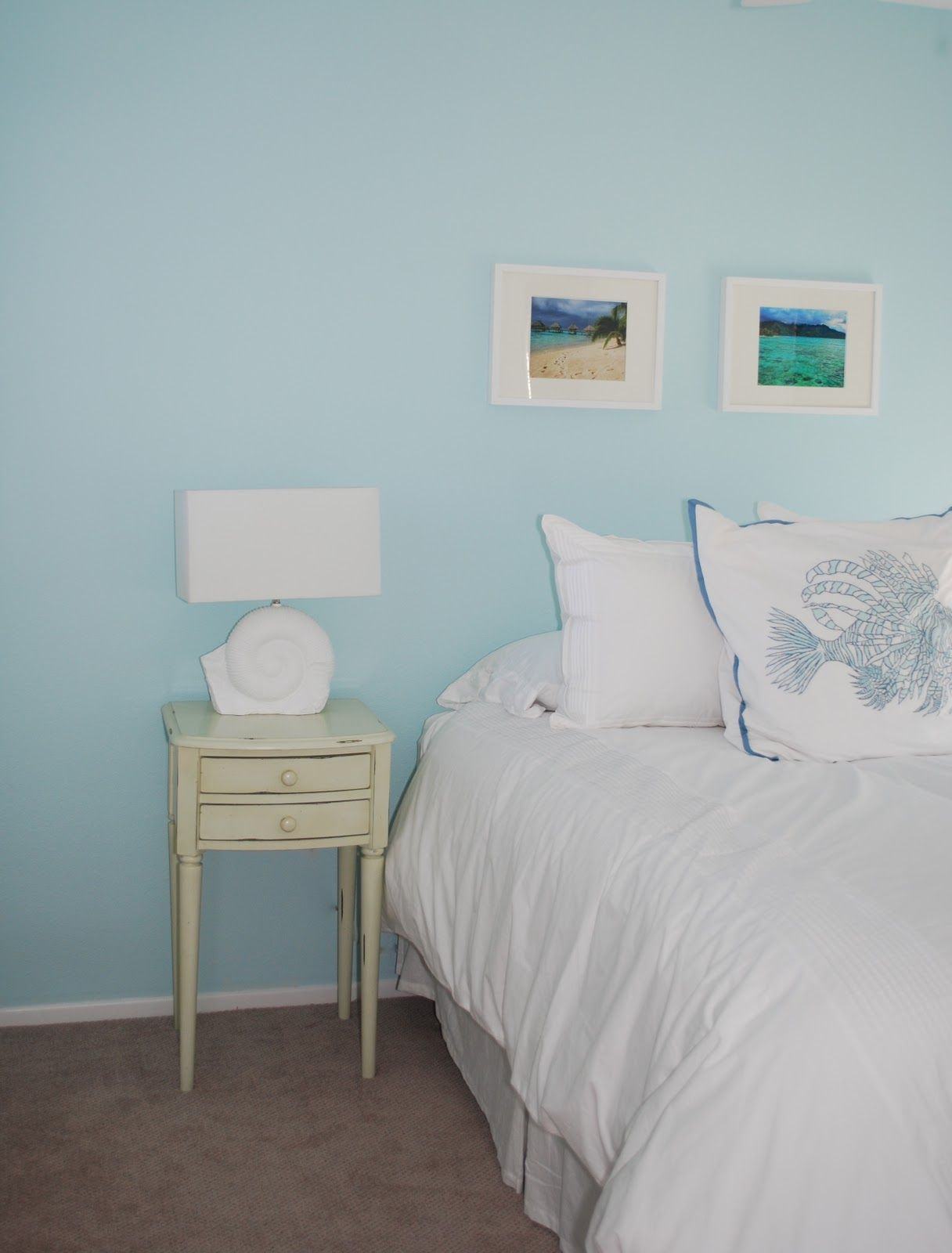 Arctic Blue By Benjamin Moore I M Obsessed Travelmoon Home Tour Guest Bedroom