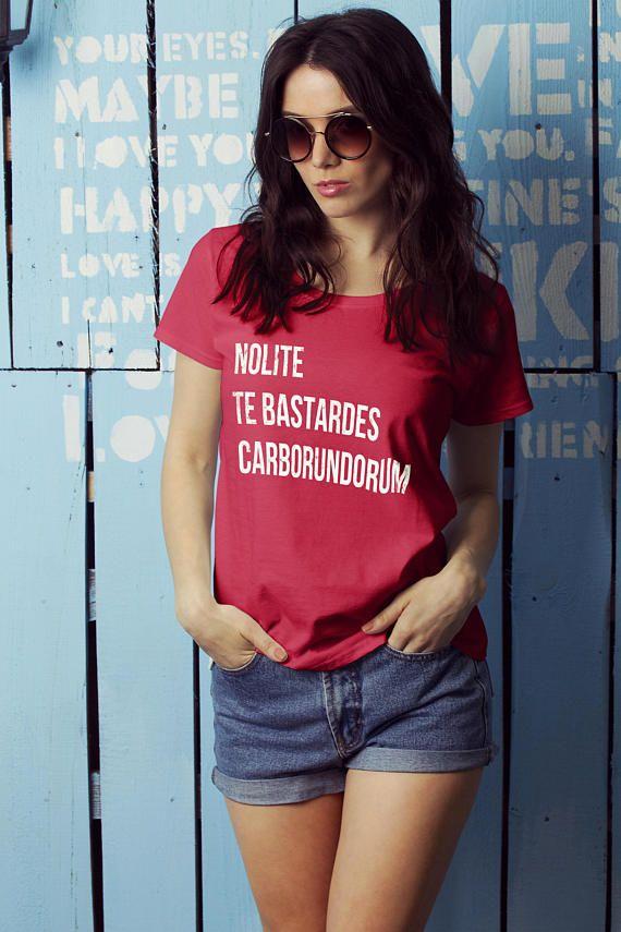 Feminist Tshirt Nolite Te Bastardes Carborundorum Quote From The