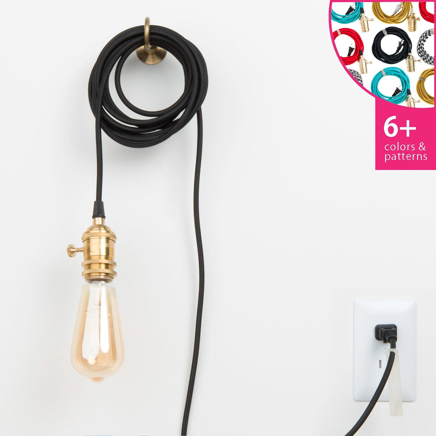 Brass Plug In Pendant Light Plug In Pendant Light Pendant Light