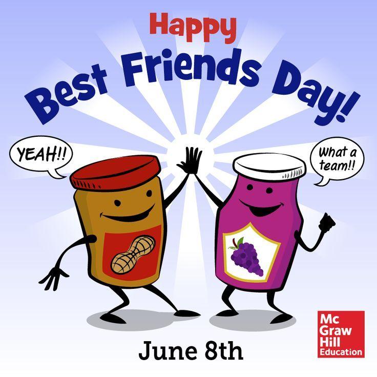 Happy Best Friends Day Jam Jars Clipart Best Friend Day National Best Friend Day Happy Best Friend Day