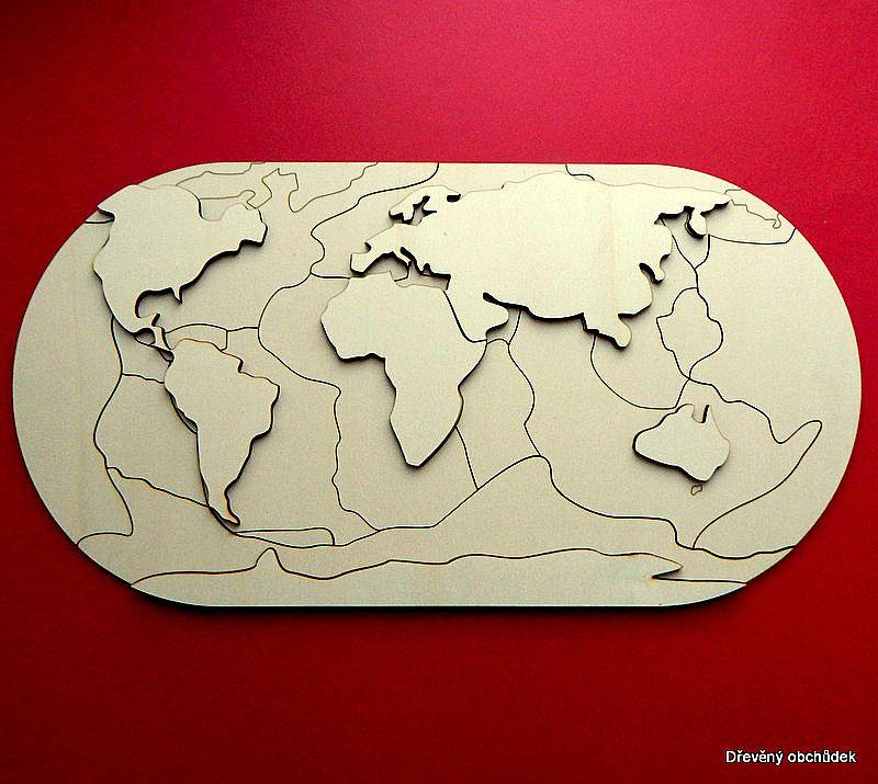 Litosfericke Desky S Kontinenty Bez Podlozky Lepidlo