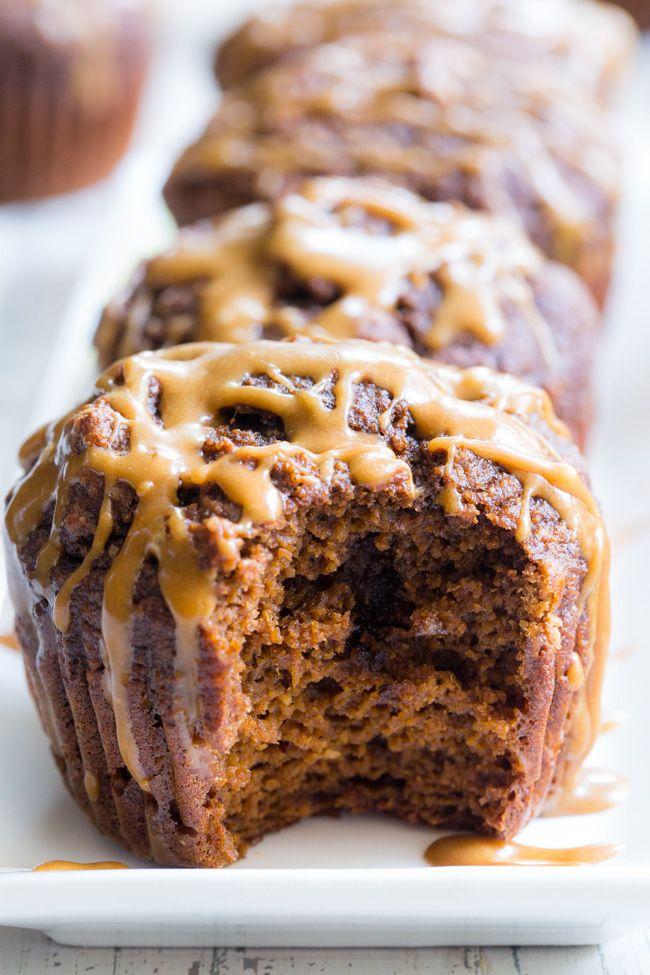 Pumpkin Spice Latte Muffins (GF, DF, Paleo) #pumpkinmuffins