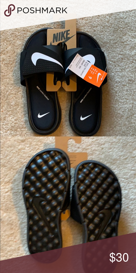 a004b6eec563 Men s Nike Ultra Comfort Slide Super comfy. Soft cushion makes them great  for walking around the house or running errands. Nike Shoes Sandals   Flip- Flops