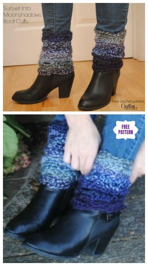 DIY Free Crochet Boot Cuffs Patterns #bootcuffs
