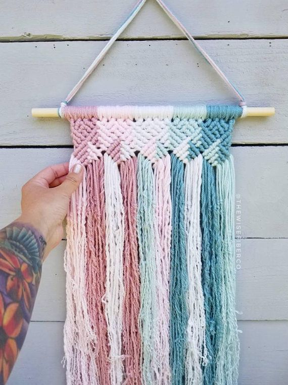 Best 12 Syou Ve Chosen To Take The First Steps To Learning A New Craft Fantastic Welcome Aboardhere Is W Yarn Wall Hanging Yarn Wall Art Macrame Wall Hanging